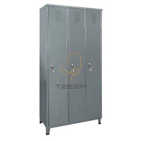 ארון מתכת הלבשה 3 דלתות
