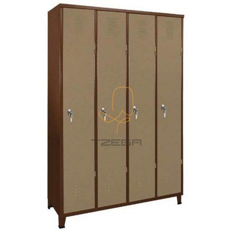 ארון מלתחה מתכת 4 דלתות
