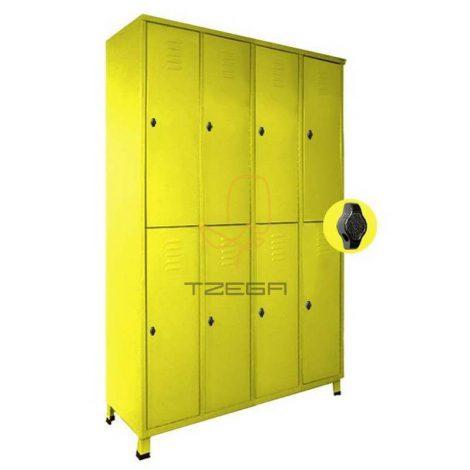 ארון לוקרים - מלתחות 8 תאים מאווררים 4X2